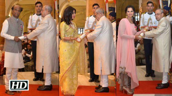 Padma Awards Rajinikanth Priyanka Chopra And Sania Mirza Honoured Un Cut Event
