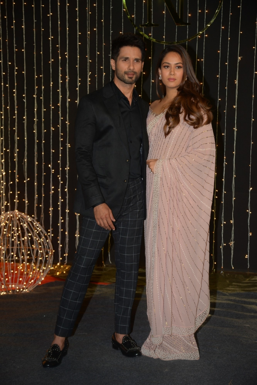 Actor Shahid Kapoor and wife Mira Rajput